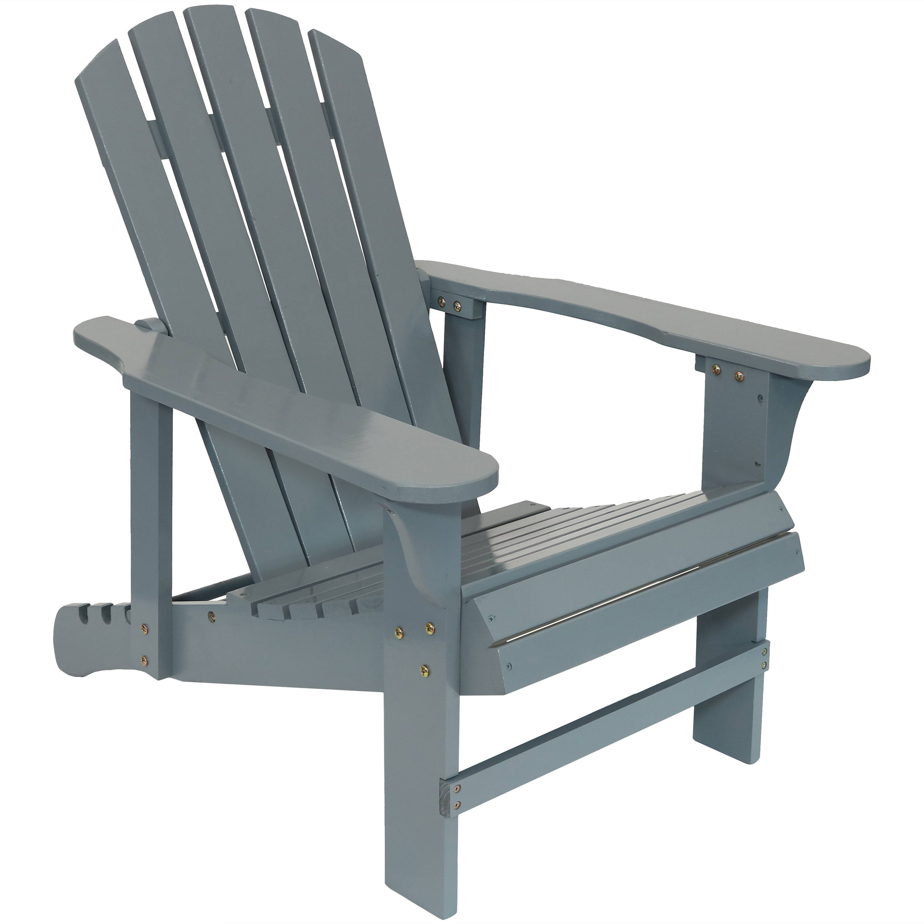 Wooden Adirondack Chair Backrest Gray Photo