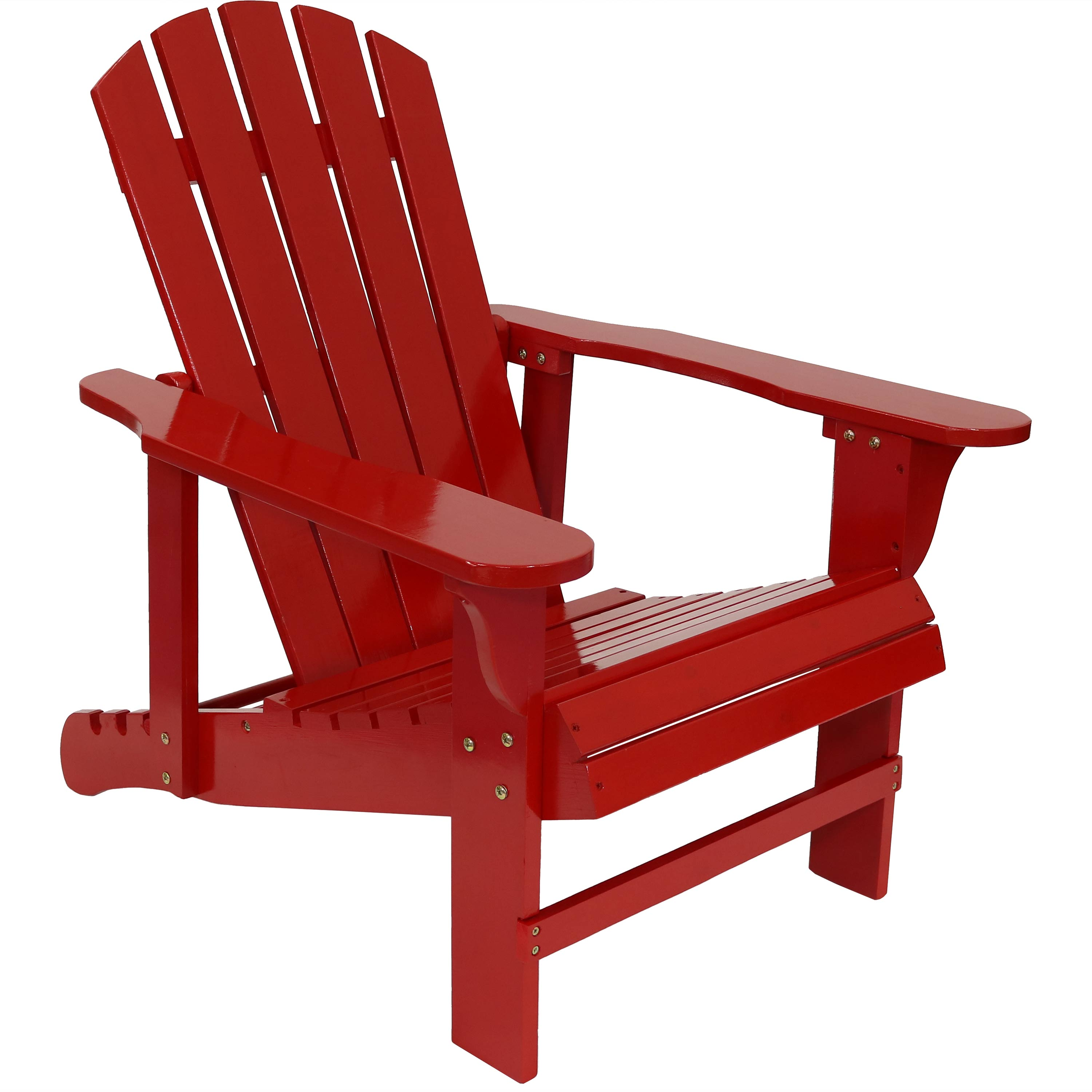 Wooden Adirondack Chair Backrest Red Photo