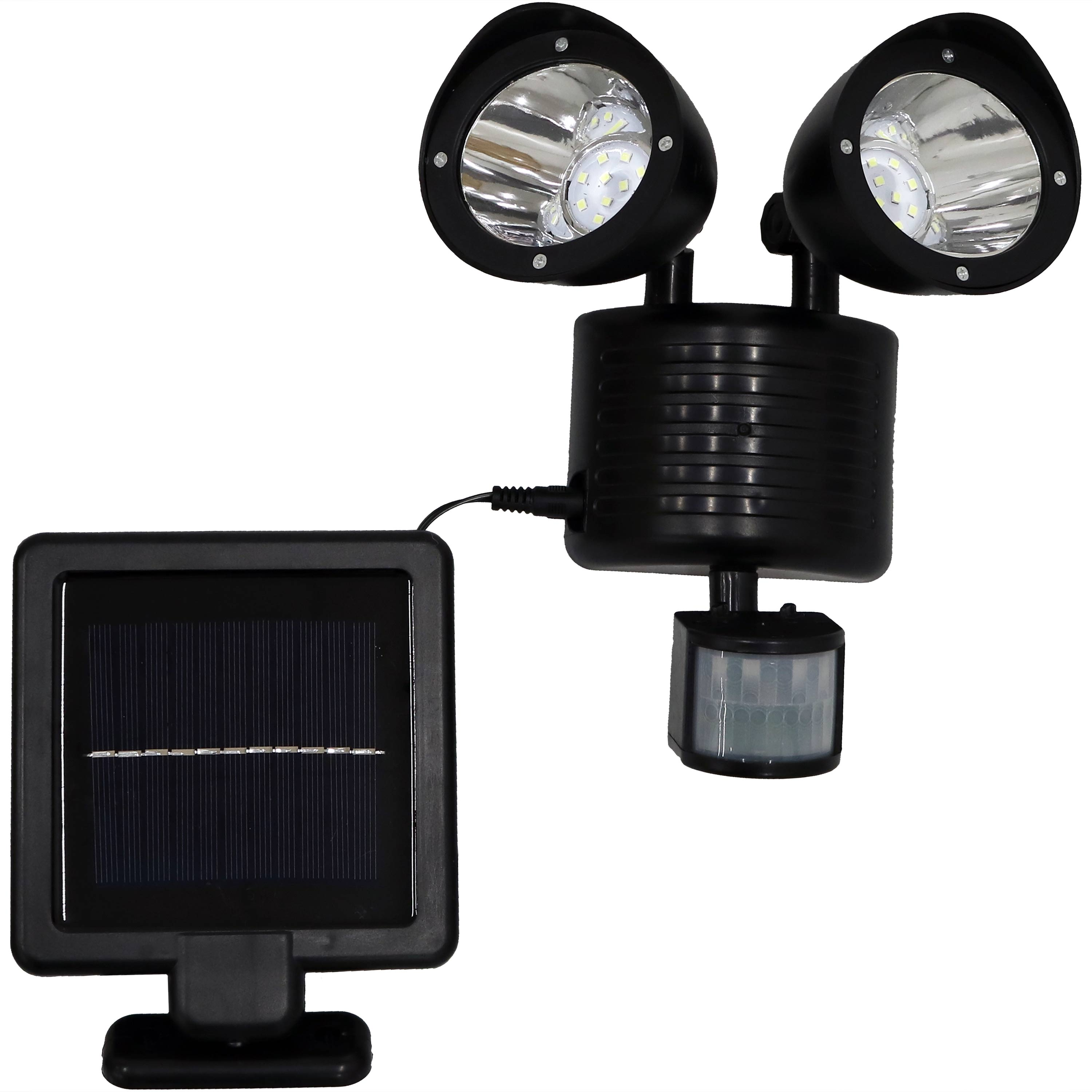 Sunnydaze Outdoor Solar LED Motion Sensor Dual Head Security Light