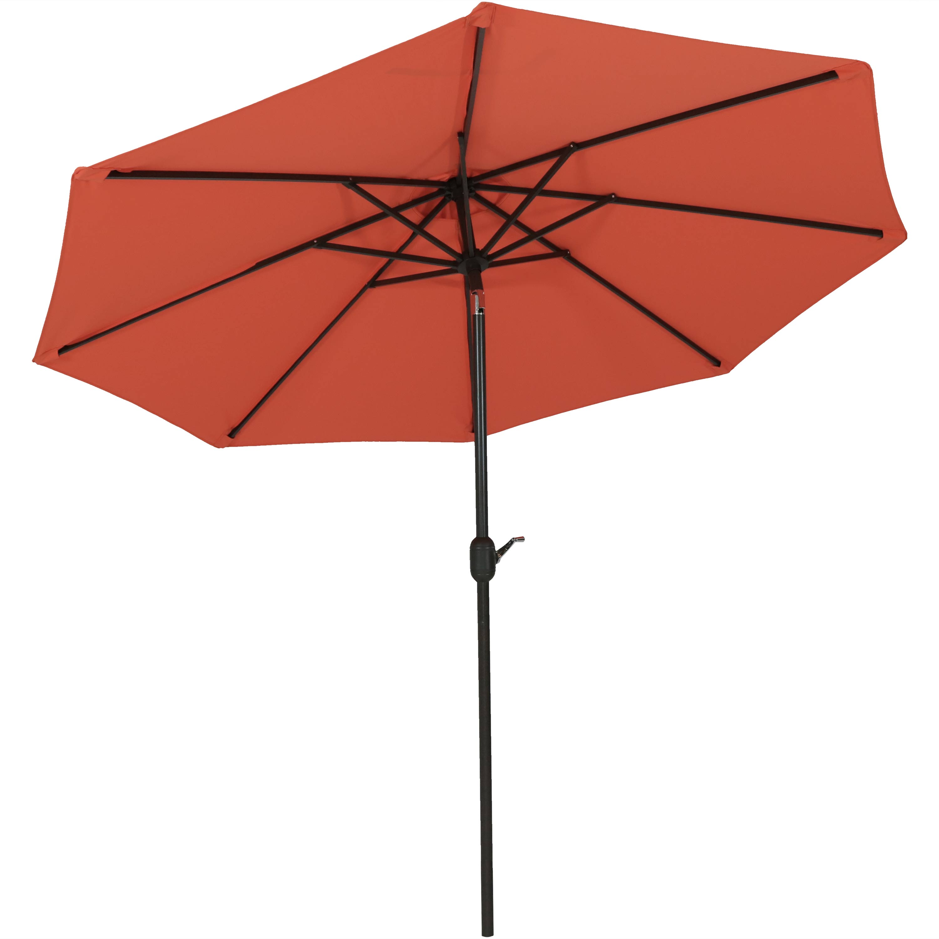 Patio Umbrella Fade Umbrella Canopy Auto Tilt Crank Orange Photo