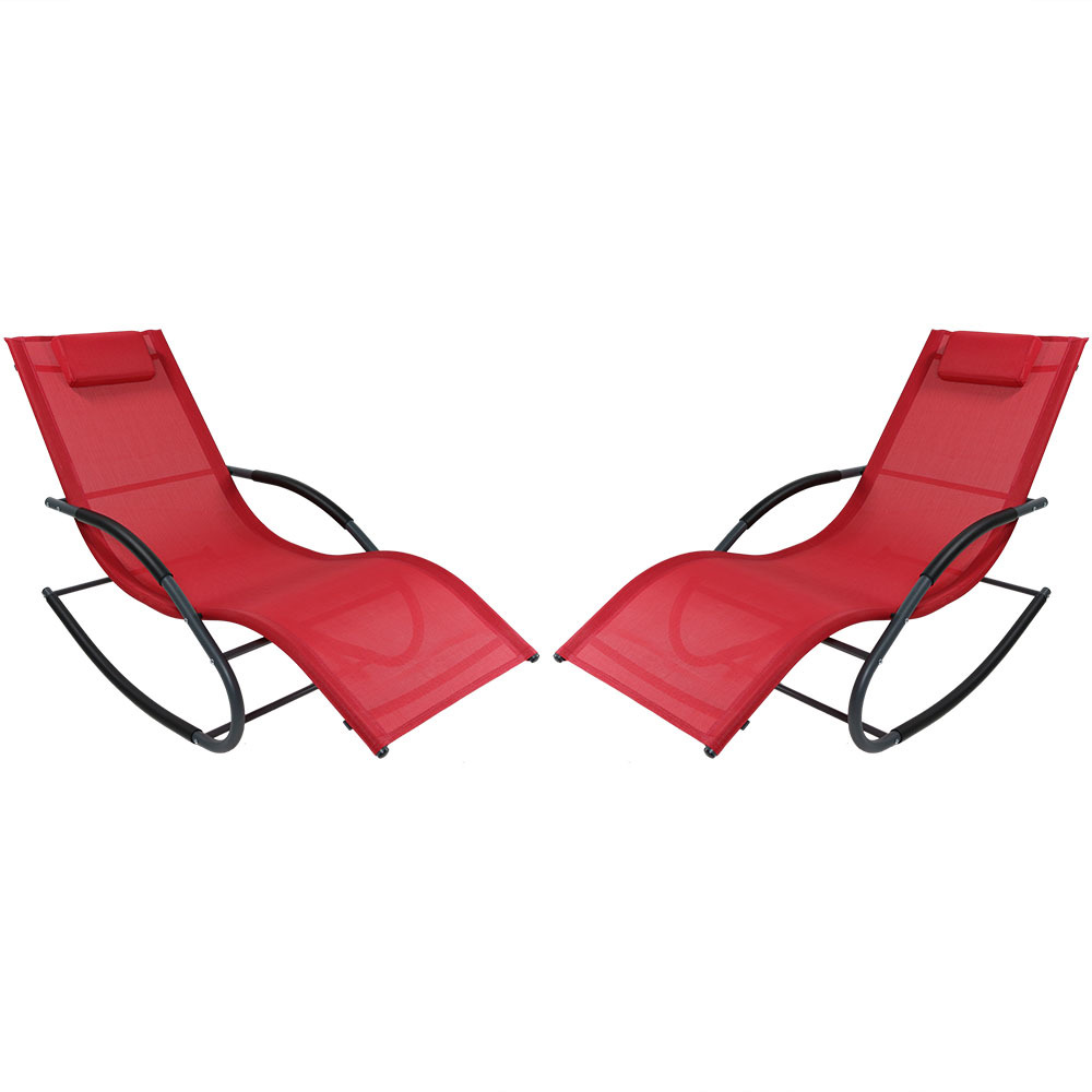 Rocking Wave Lounger Pillow Red Photo