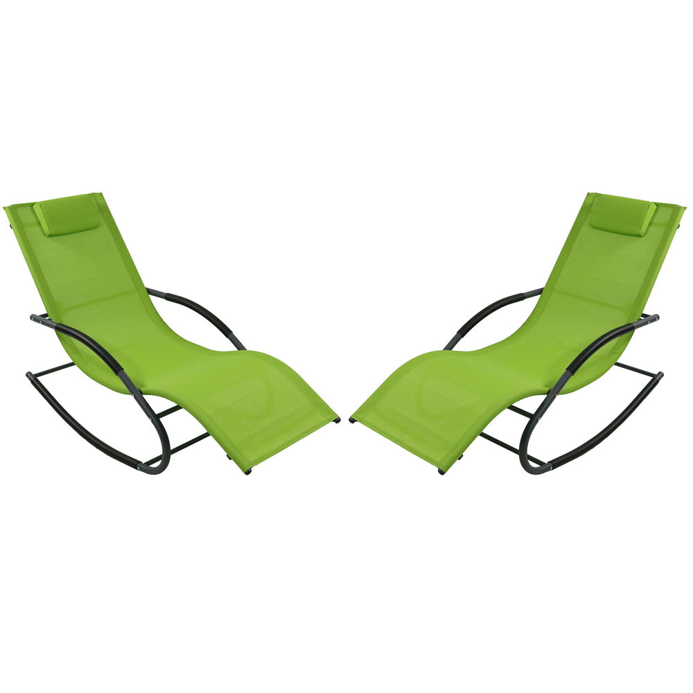 Rocking Wave Lounger Pillow Green Photo