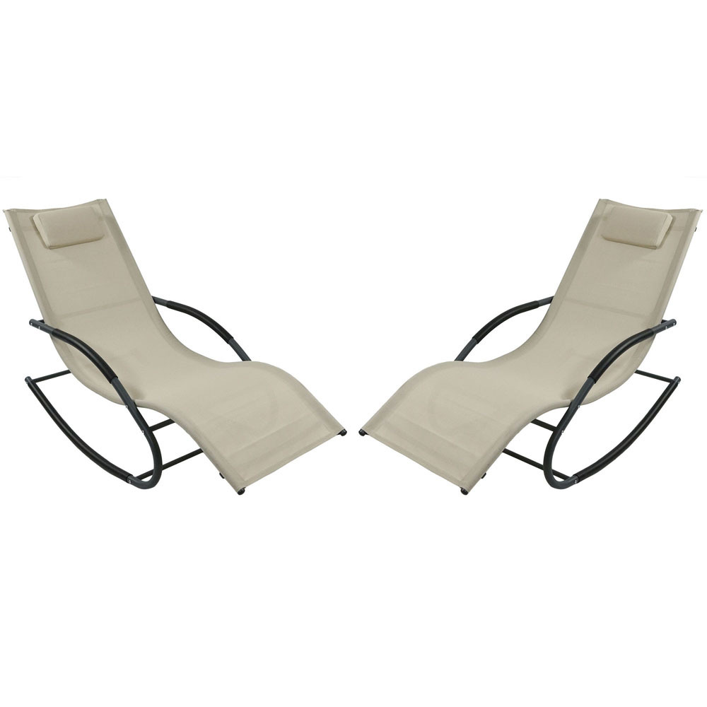 Rocking Wave Lounger Pillow Beige Photo