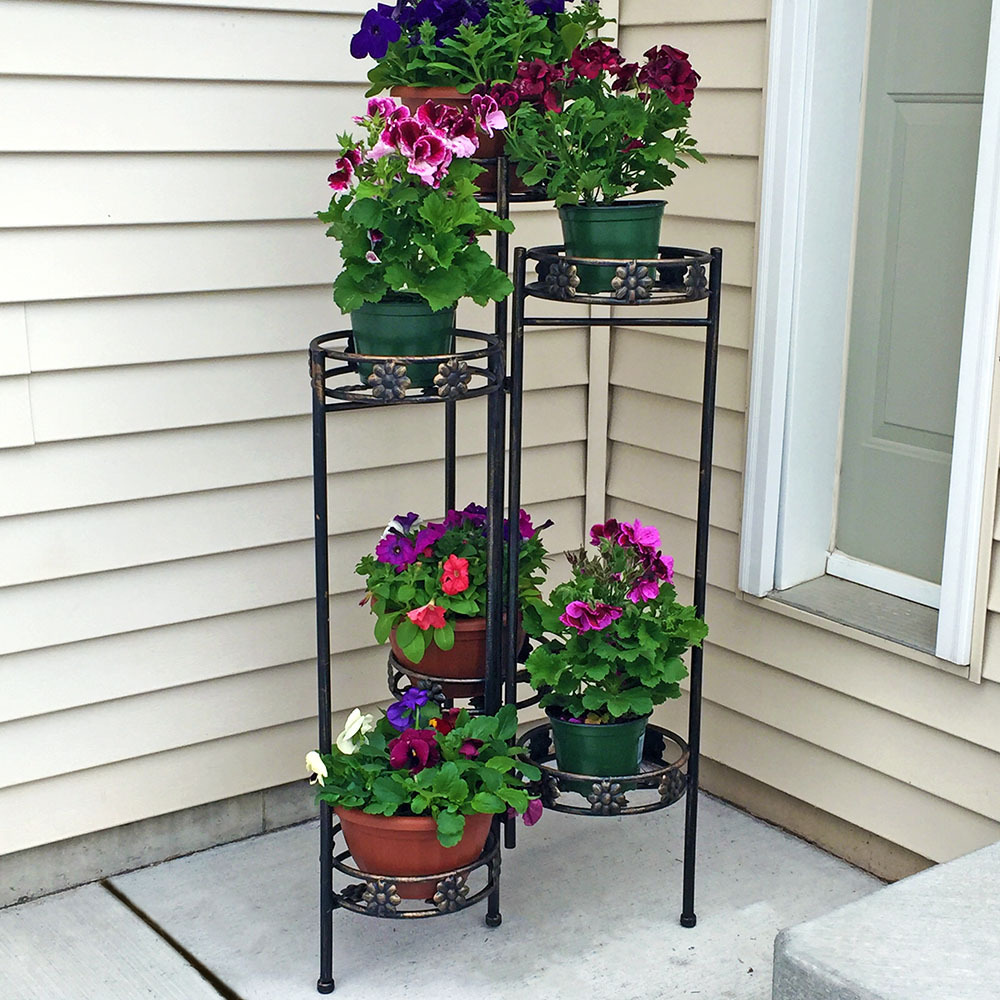 Sunnydaze Tiered Folding Plant Stand es Photo