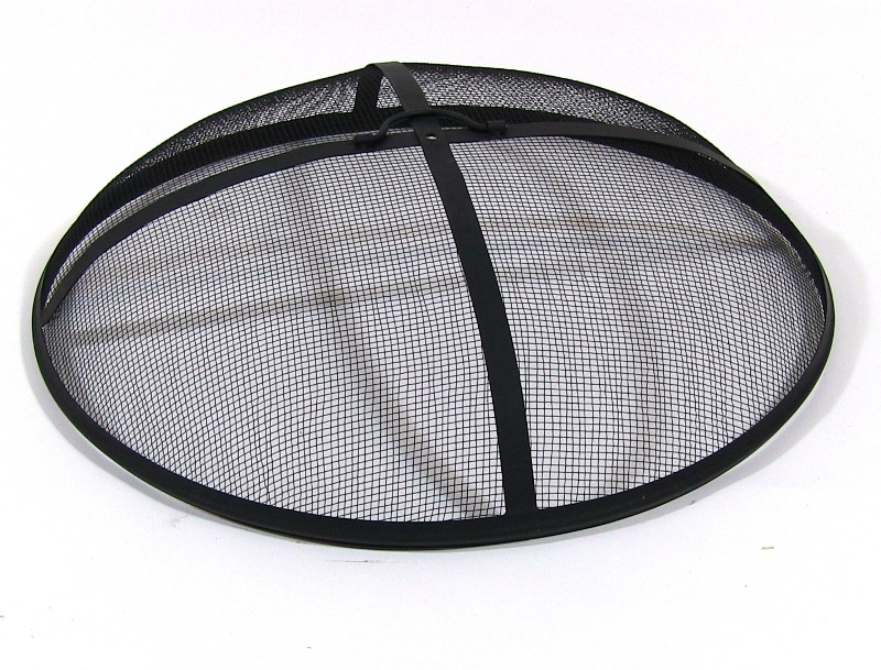 Sunnydaze Fire Pit Spark Screen Cover, Outdoor Heavy Duty Round Firepit Lid Protector, 40 Inch