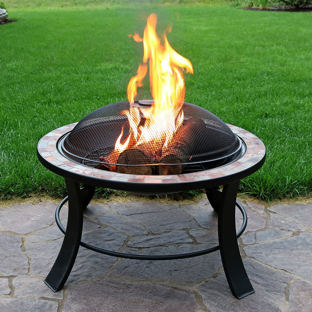 Sunnydaze Natural Slate Fire Pit Table Image 817