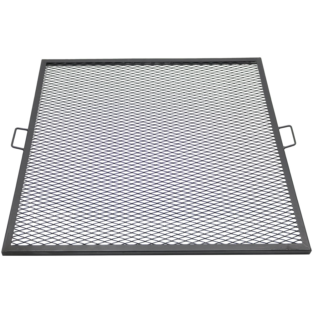 Fire Pit Cooking Grill Grate Square Bbq Campfire Grill Camping Cookware Photo