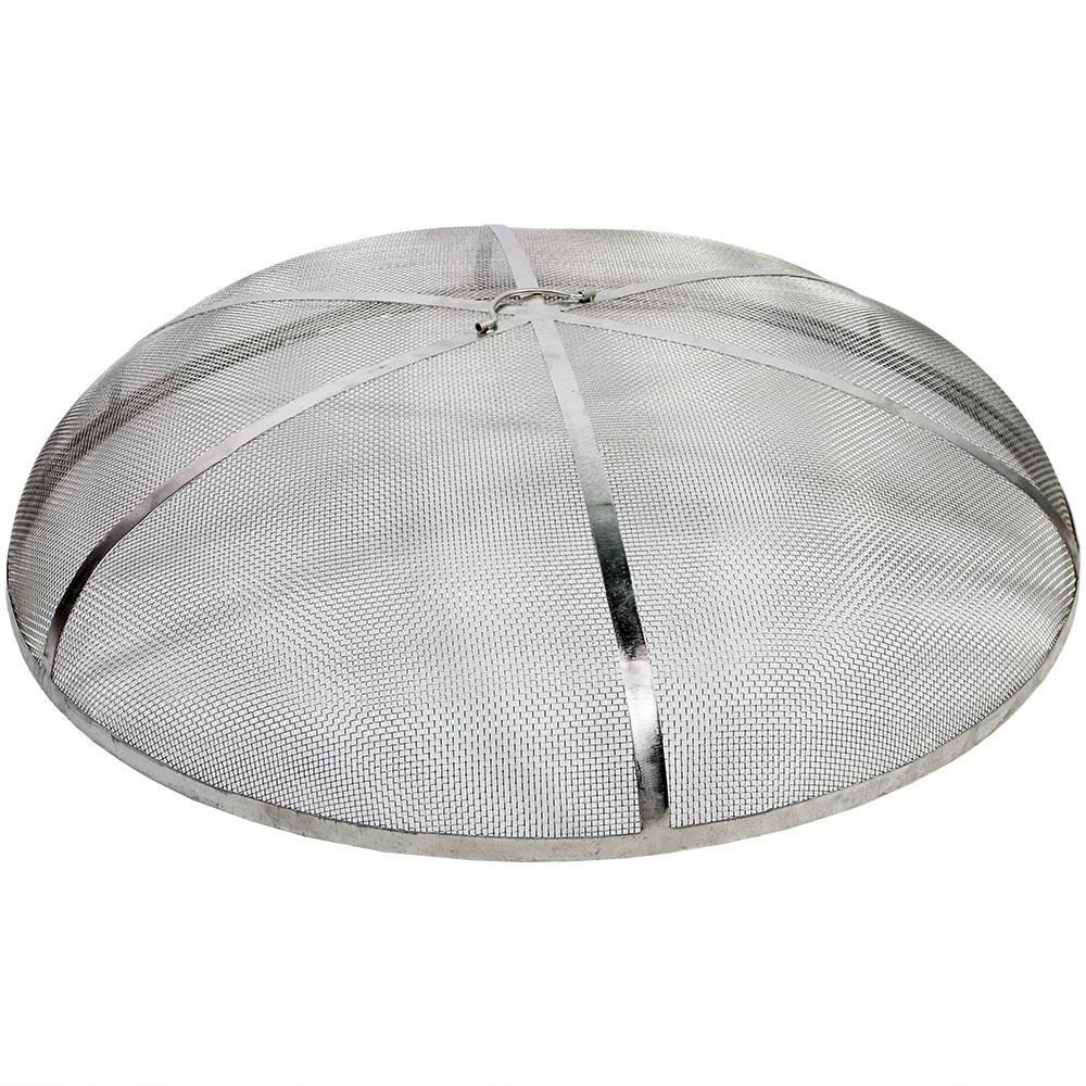 Fire Pit Spark Screen Cover Round Firepit Steel Photo