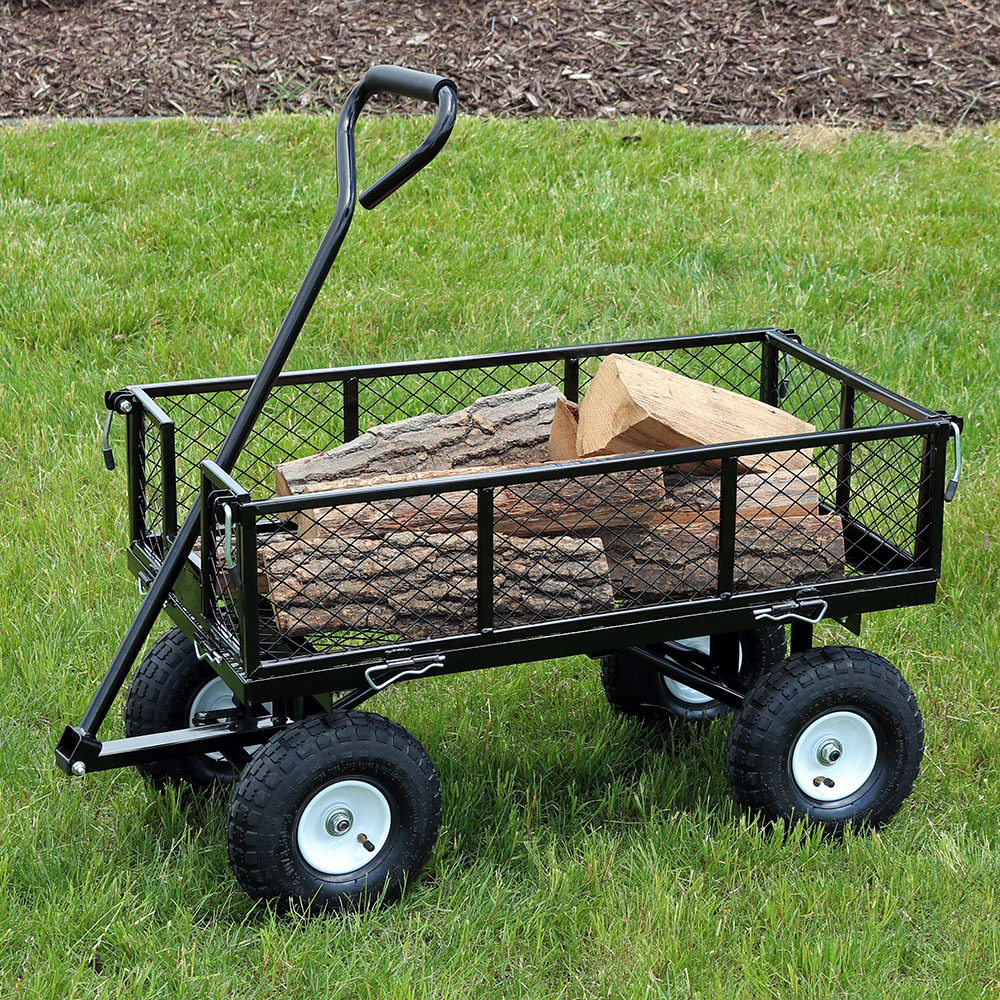 Sunnydaze Heavy Duty Steel Log Cart es Long es Wide Pound Weight Capacity Photo