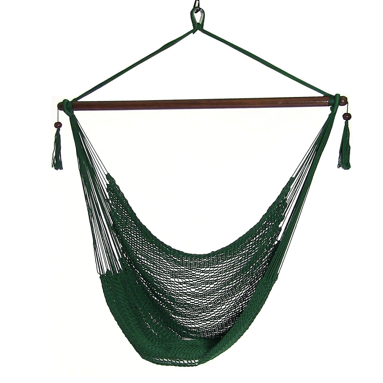 Details About Sunnydaze Soft Polyester Extra Large Hanging Caribbean Hammock Chair Green