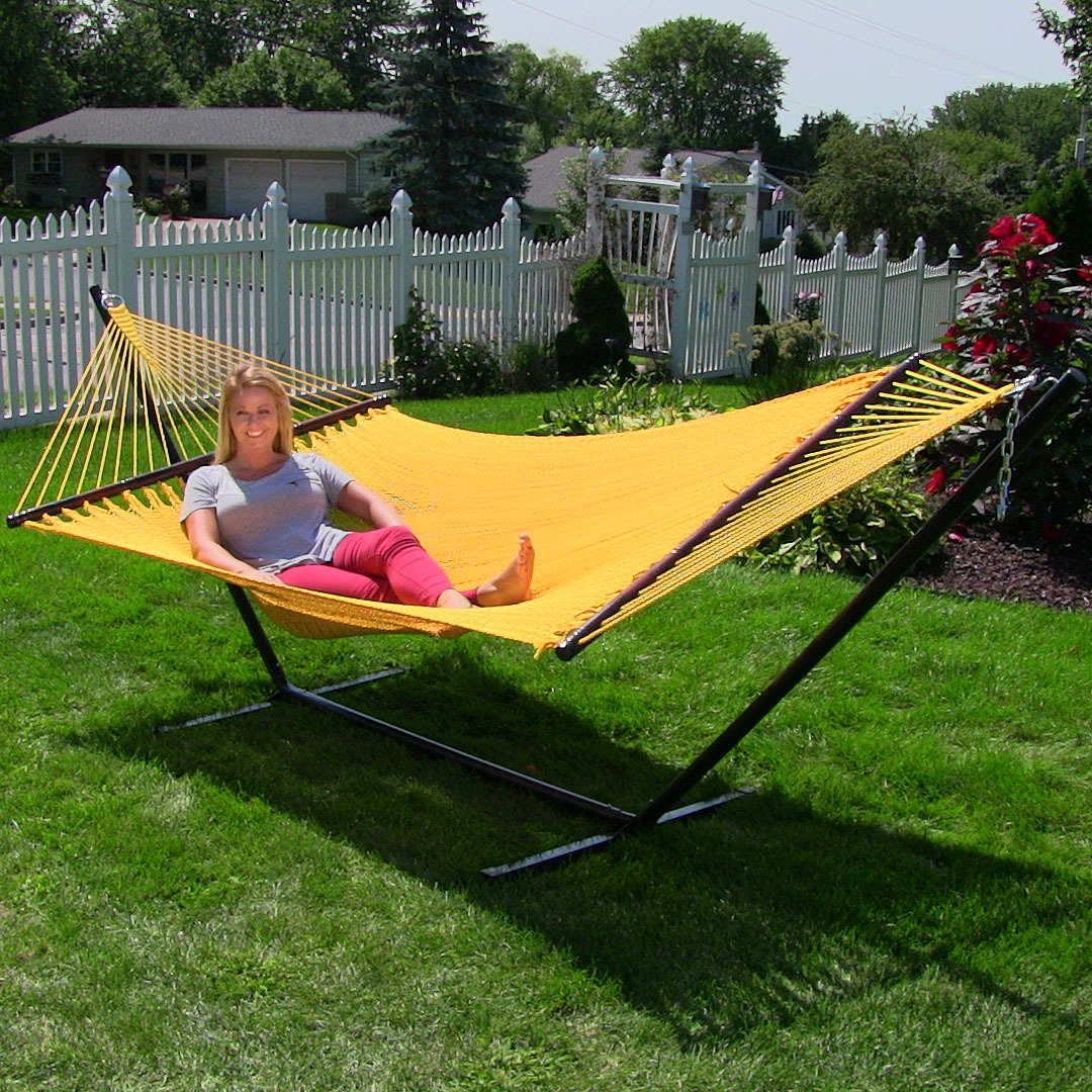 Sunnydaze Large Person Soft Spun Polyester Rope Hammock Image 168