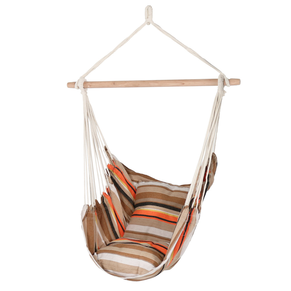 Details About Sunnydaze Indoor Outdoor Hammock Chair Swing With 2 Cushions Sunrise