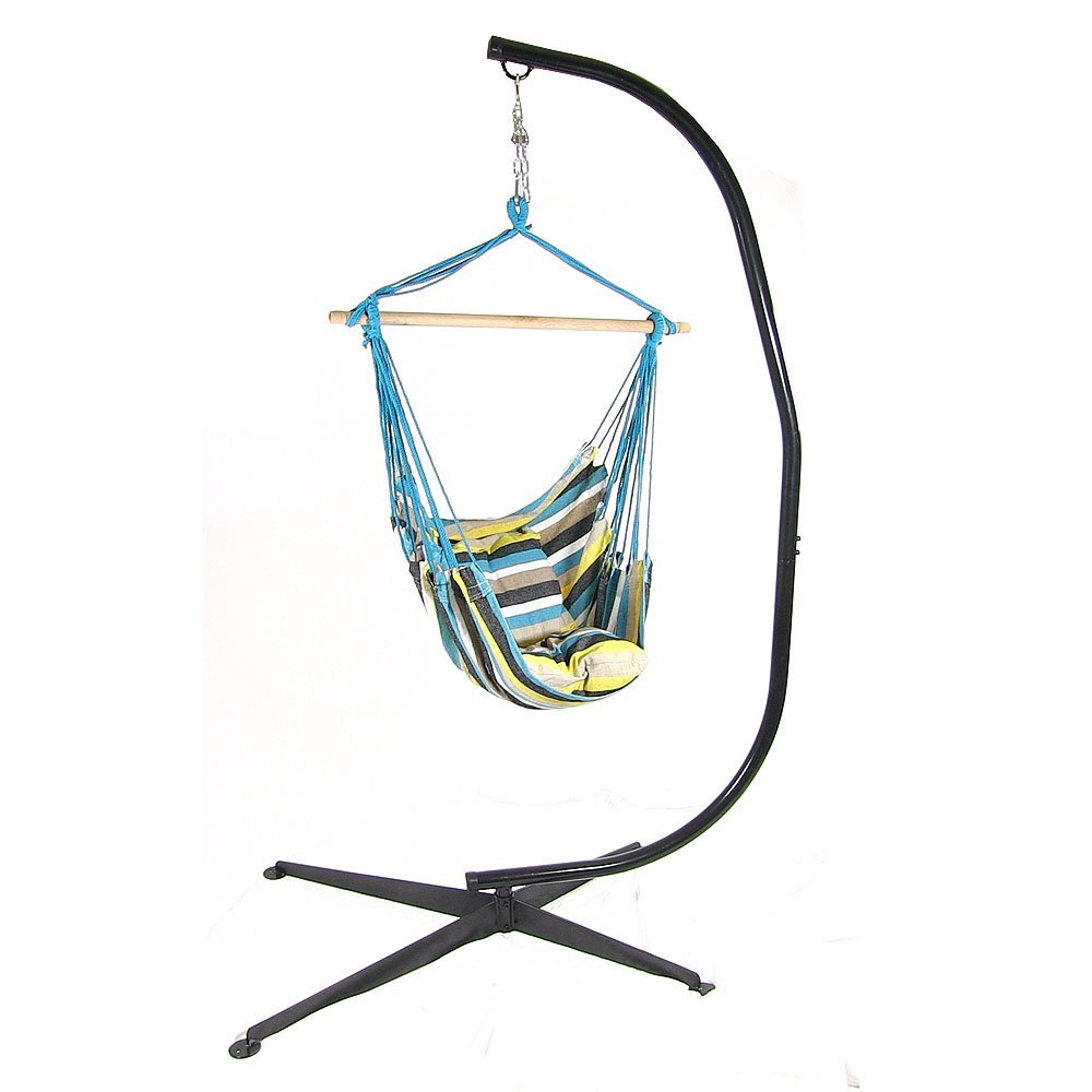 Hanging Hammock Chair Swing Stand Set Ocean View Use Seat Cushions Photo