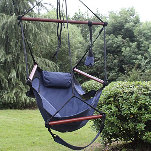 Superior Sunnydaze Deluxe Hanging Hammock Air Chair Swing With
