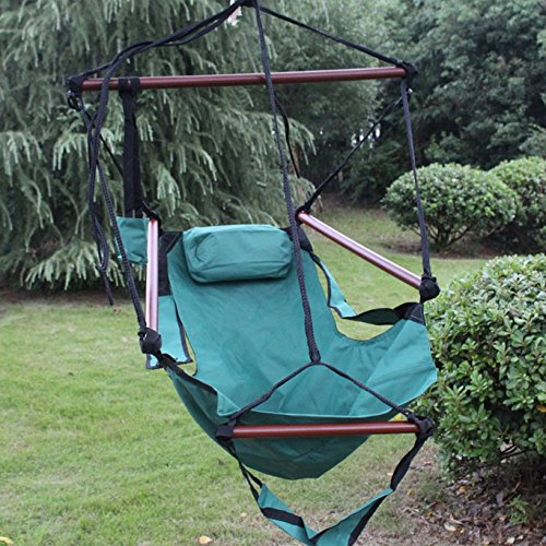 Sunnydaze deluxe hanging hammock air chair swing with pillow choose color ebay - Choosing a hammock chair for your backyard ...