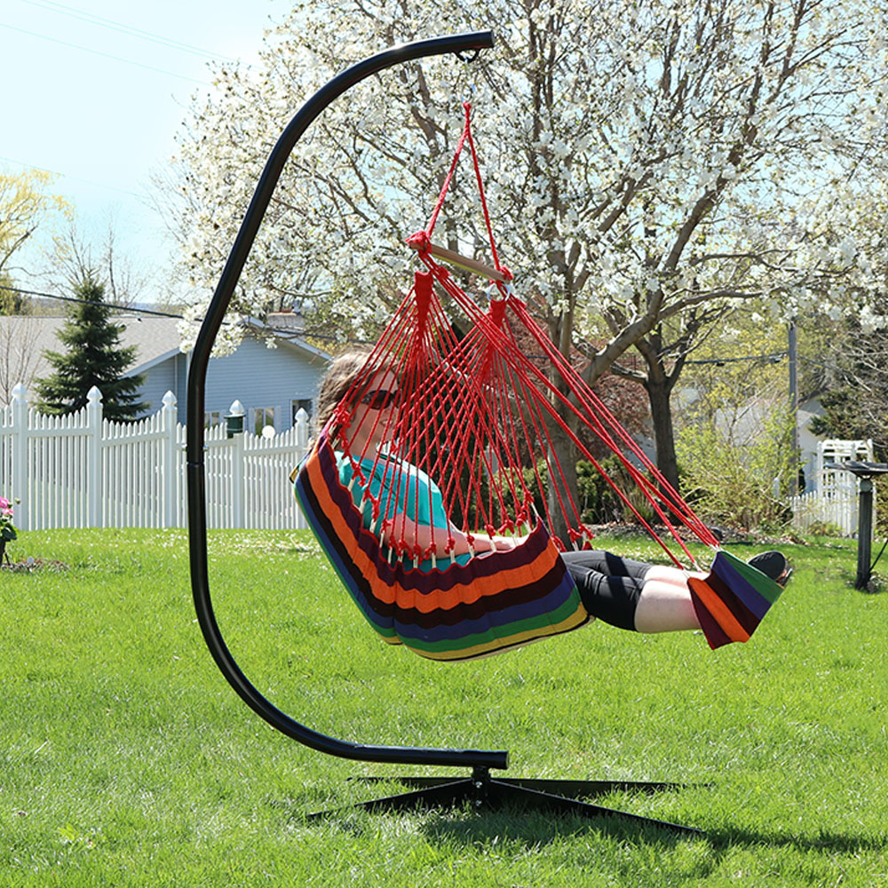 Sunnydaze Hanging Padded Soft Cushioned Hammock Chair Image 941