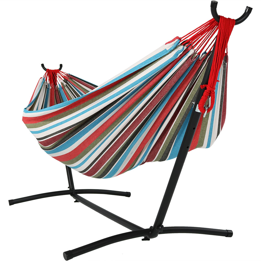 Double Hammock Stand Carry Bag Cool Breeze Photo