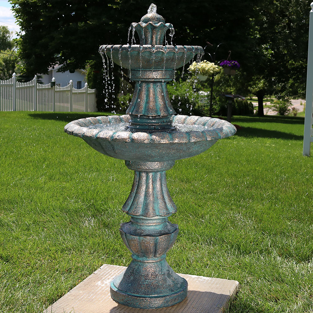 Sunnydaze Nouveau Tiered Garden Water Fountain Image 402
