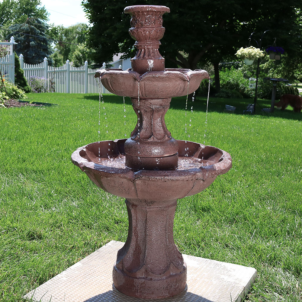 Sunnydaze Goblet Tier Garden Outdoor Water Fountain Picture 364