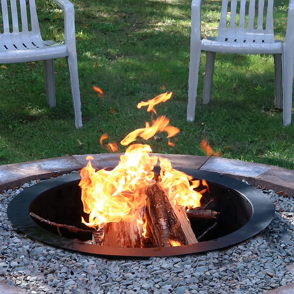 Sunnydaze Heavy Duty Fire Pit Ring Liner Diy Fire Pit Above Or In Ground Mm Thickness Stee Picture 376