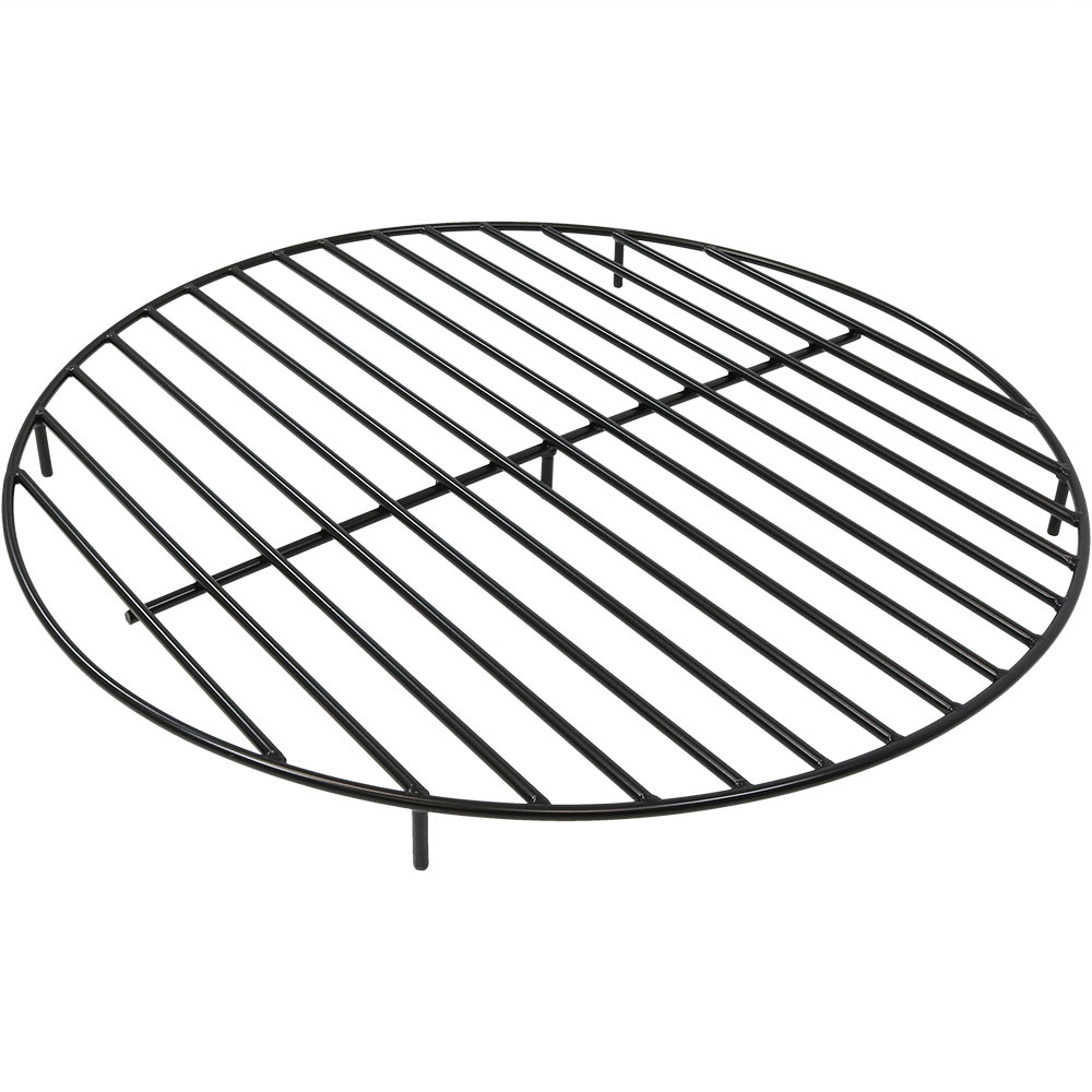 Round Fire Pit Grate Black Photo
