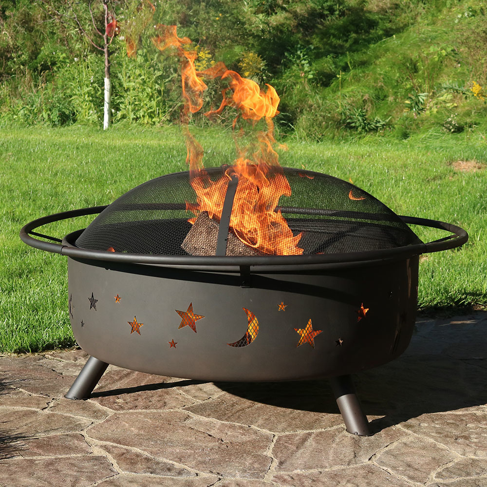 """Fire Pit with Screen - 42"""" Cosmic Design"""
