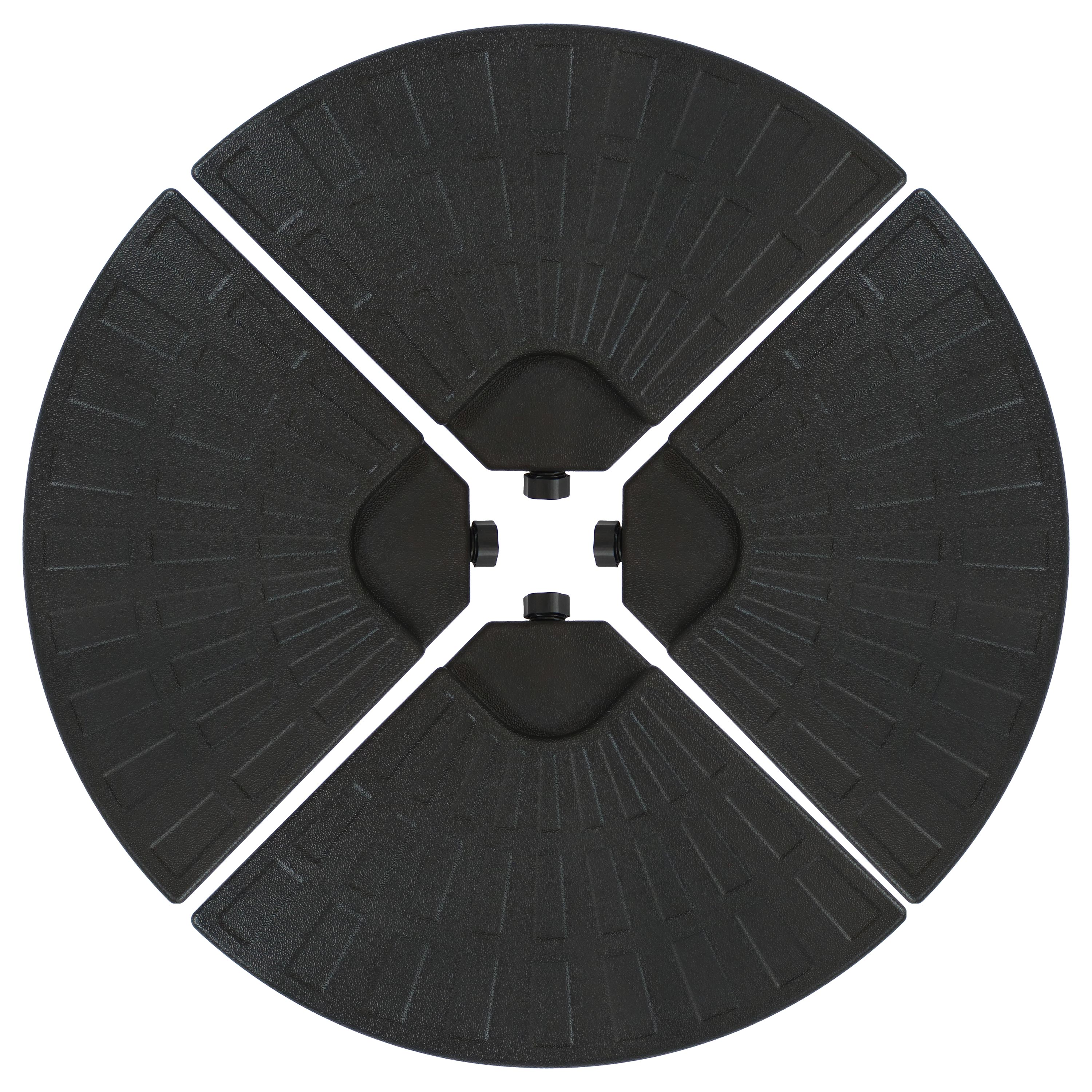 Patio Umbrella Base Plate Weights Cross Style Bases Black Photo