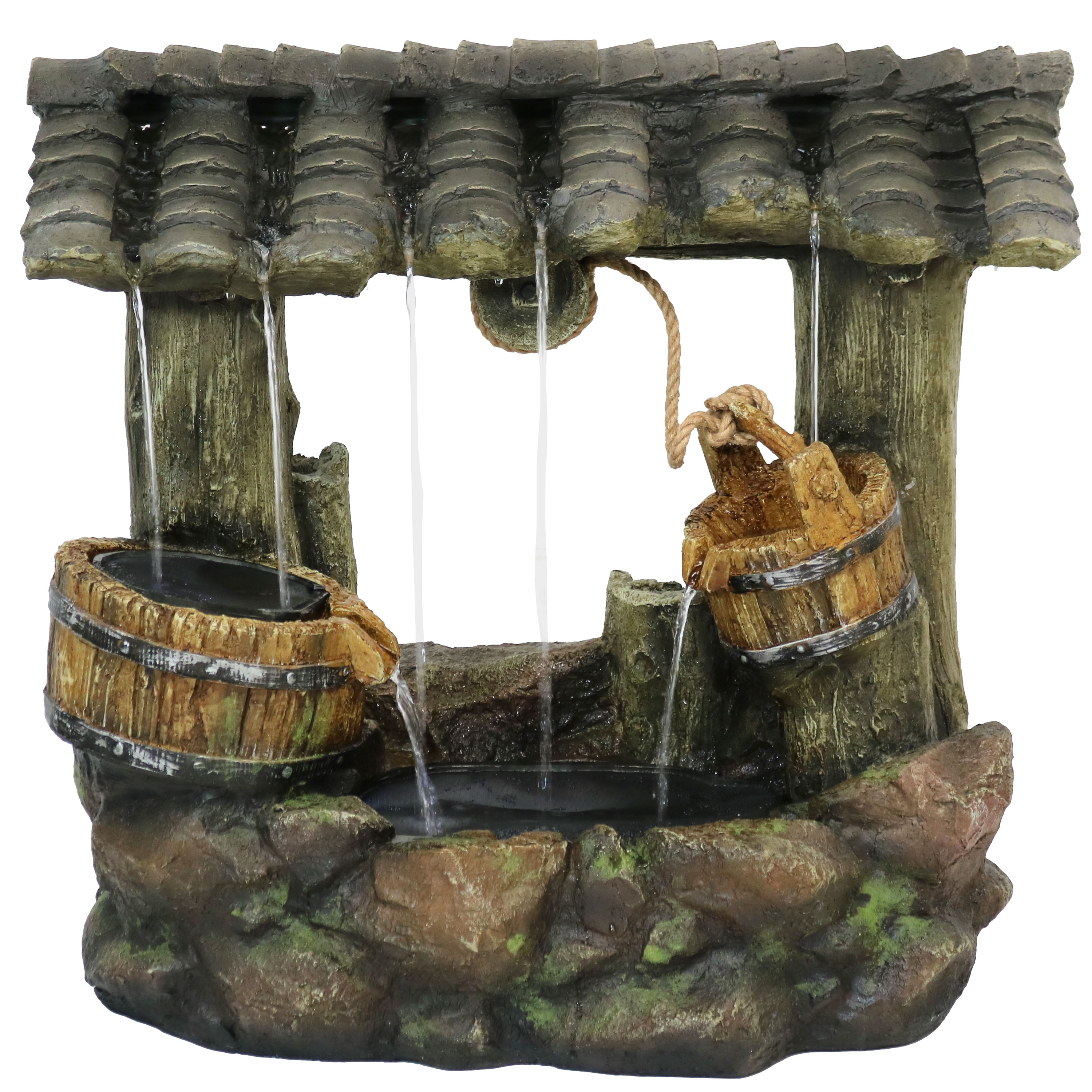 Enchanted Wishing Well Water Fountain Led Lights Submersible Pump Photo