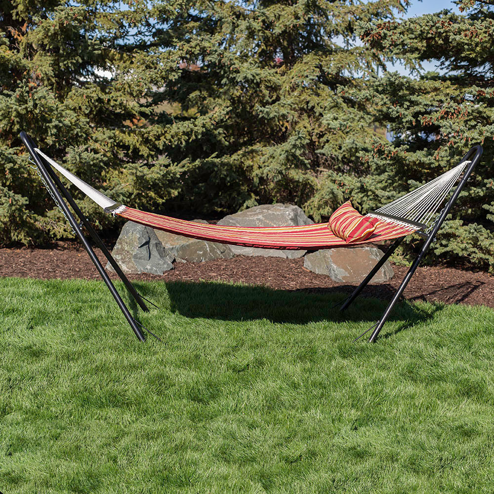 Sunnydaze Quilted Double Fabric Person Hammock Image 937