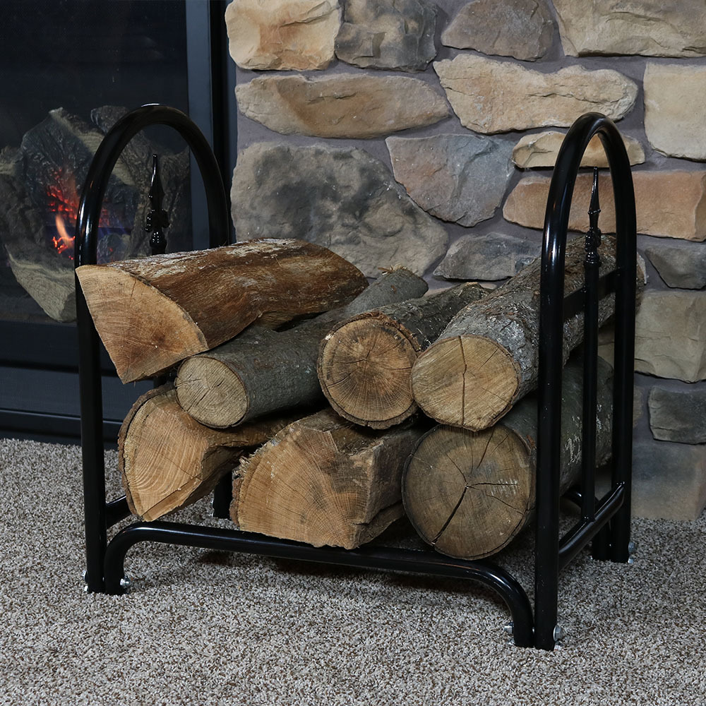 Sunnydaze Indoor Outdoor Foot Decorative Log Rack Cover Combo Picture 769