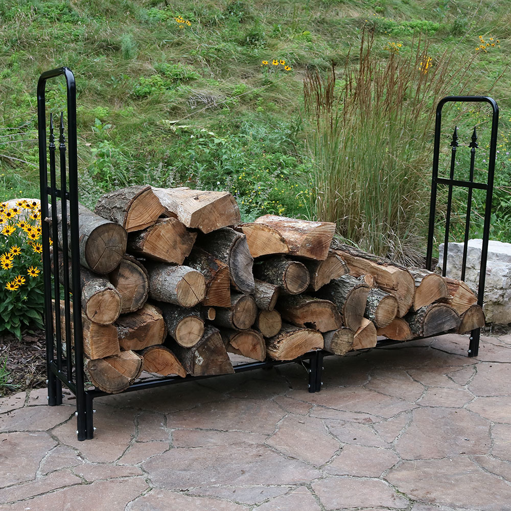 Sunnydaze Foot Decorative Firewood Log Rack Image 424