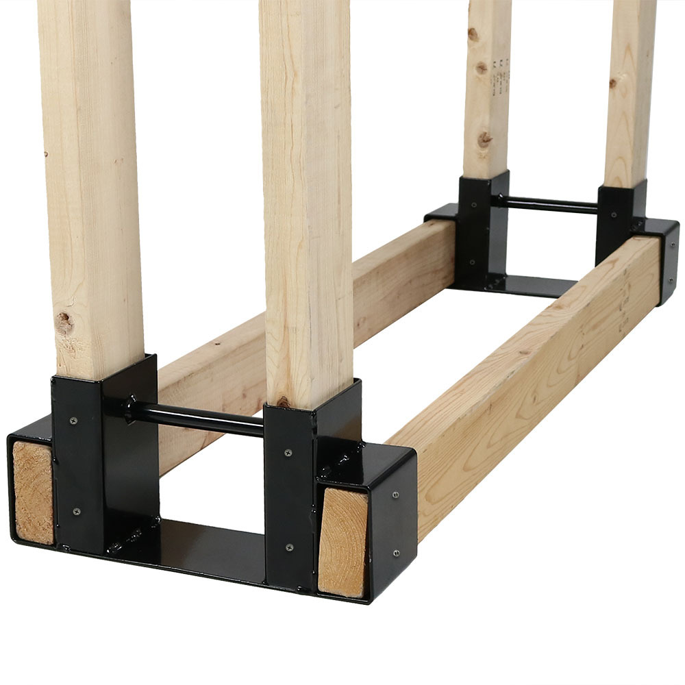 Steel DIY Log Rack Brackets Outdoor Heavy Duty Wood ...