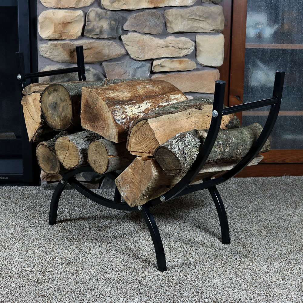 Sunnydaze Foot Curved Indoor Outdoor Firewood Log Rack Picture 719