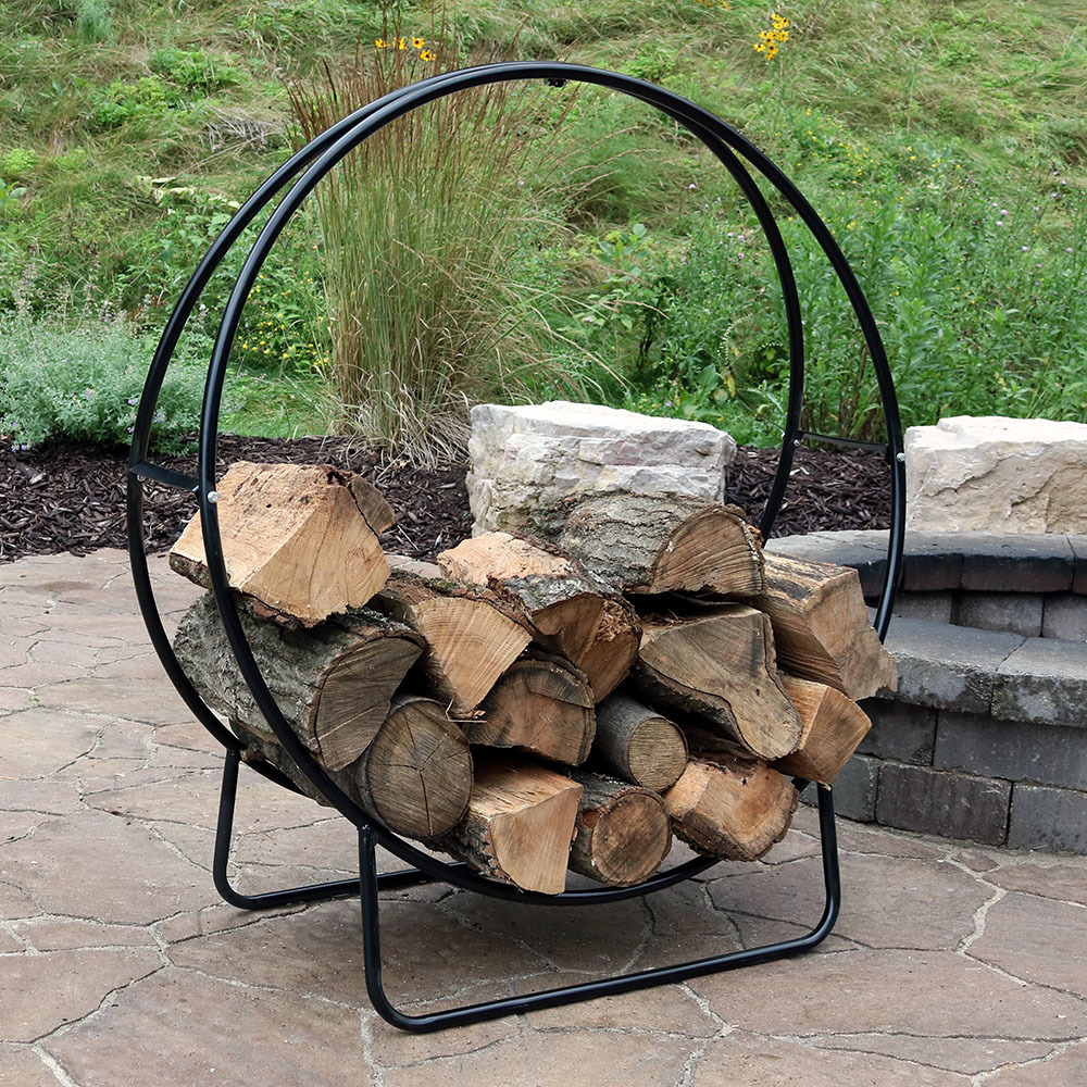 Sunnydaze Tubular Steel Firewood Log Hoop Picture 775