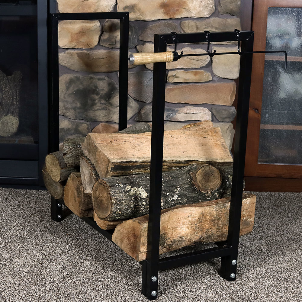 Sunnydaze Indoor Outdoor Steel Firewood Log Holder Image 887