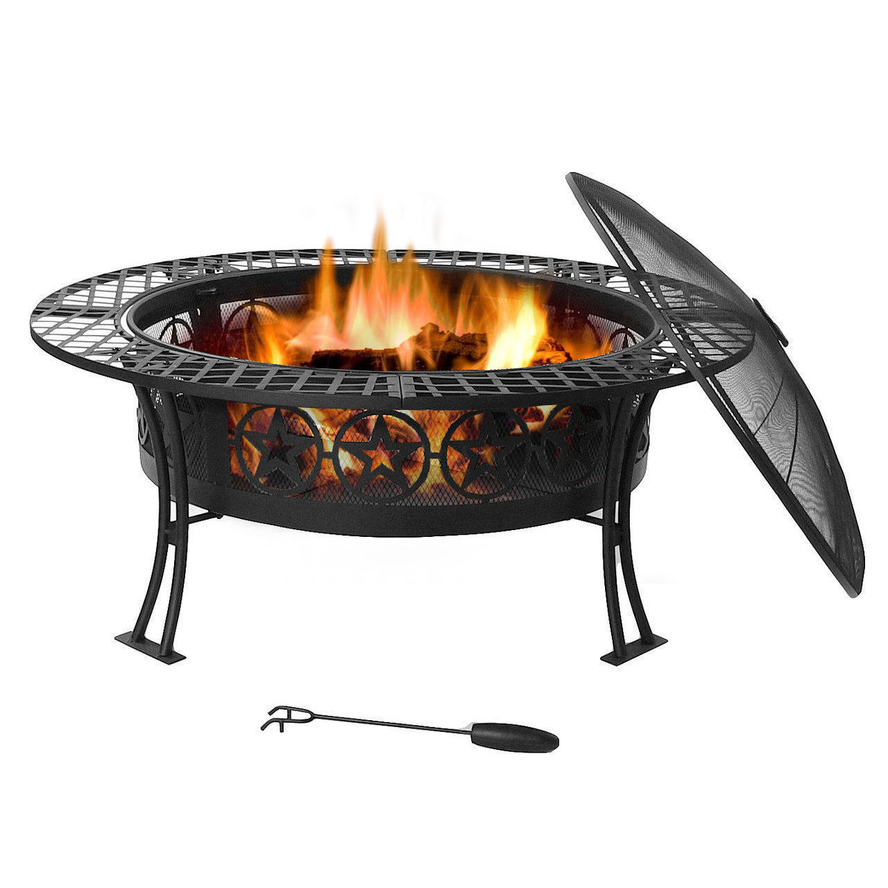 Four Star Fire Pit Table Spark Screen Photo