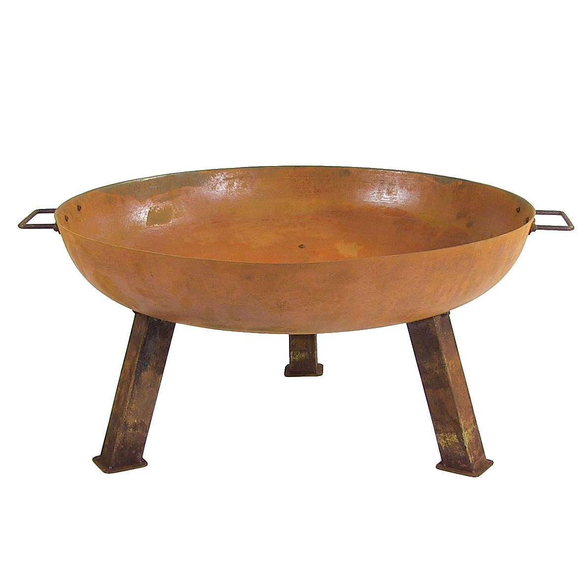 Small Fire Pit Bowl Iron Wood Burning Patio Backyard Camping Photo