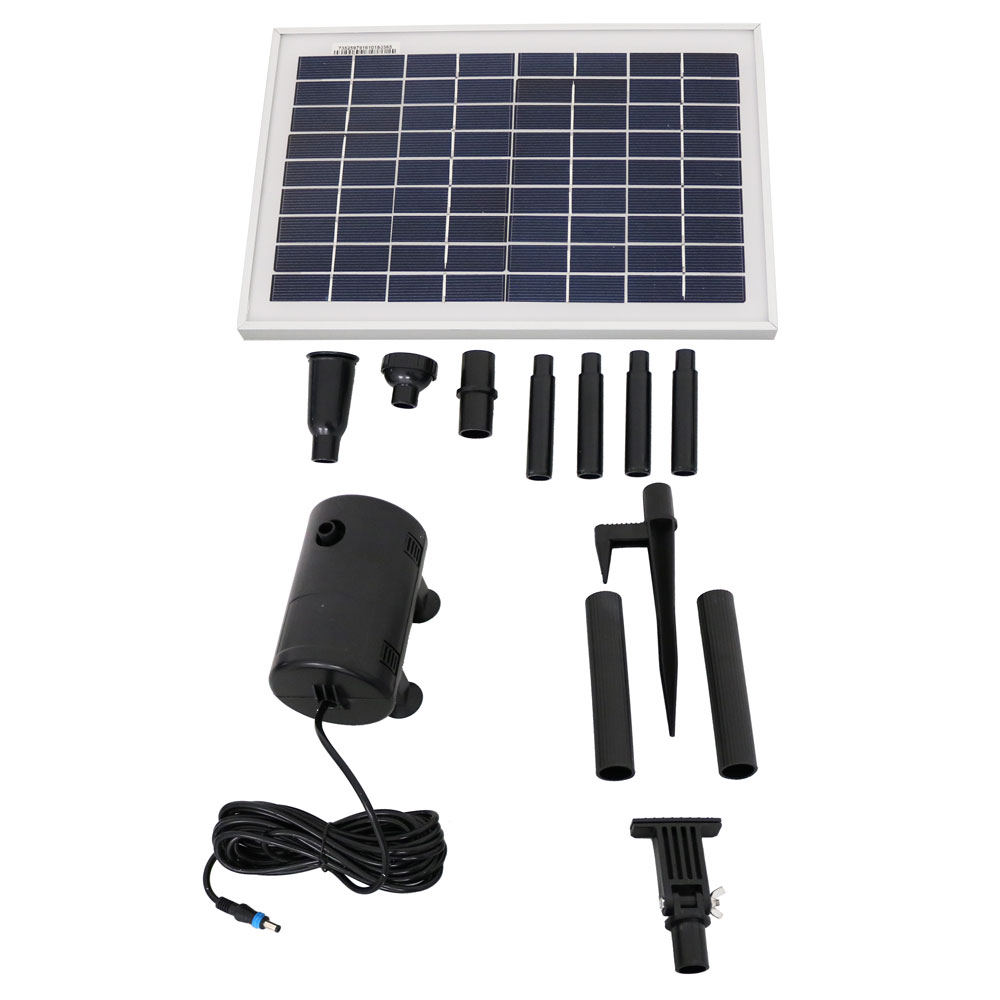 Solar Pump Panel Fountain Kit Spray Heads Gph Lift Photo