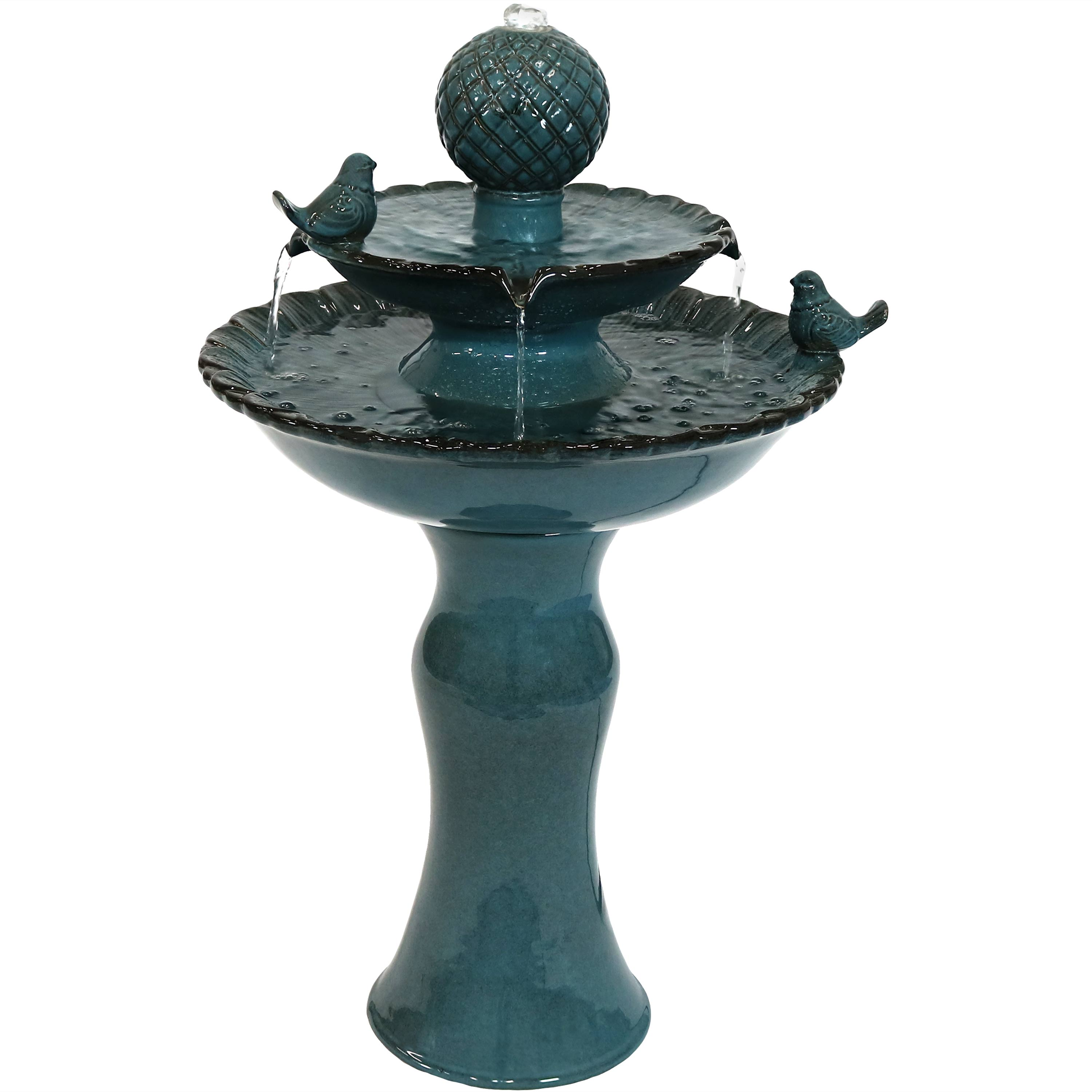 Resting Birds Ceramic Water Fountain Photo
