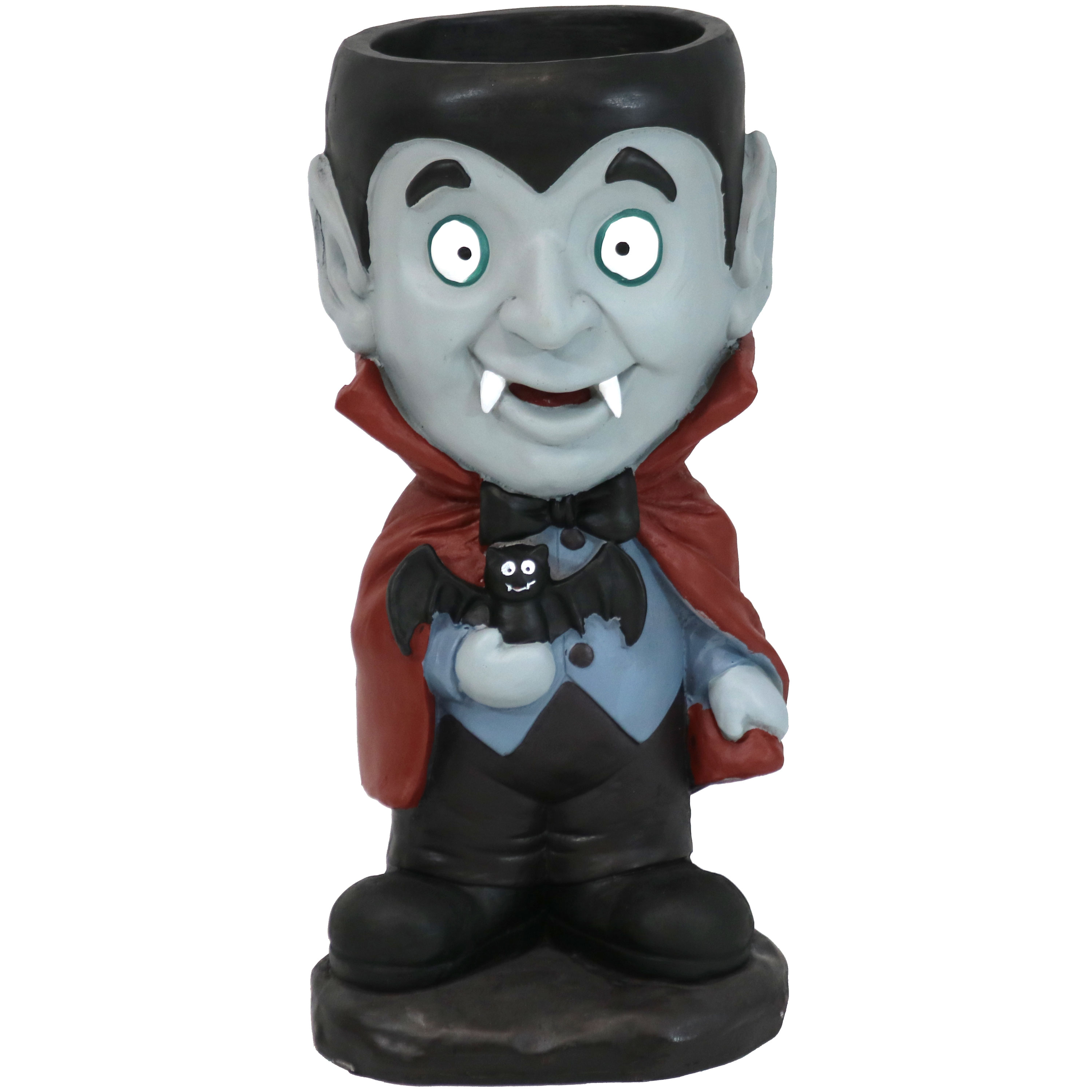Count Dracula Vampire Halloween Statue Built In Candy Bowl Dish Tall Photo
