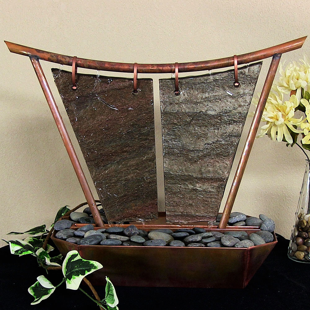 Sunnydaze Phoeni Tabletop Fountain Copper Picture 310