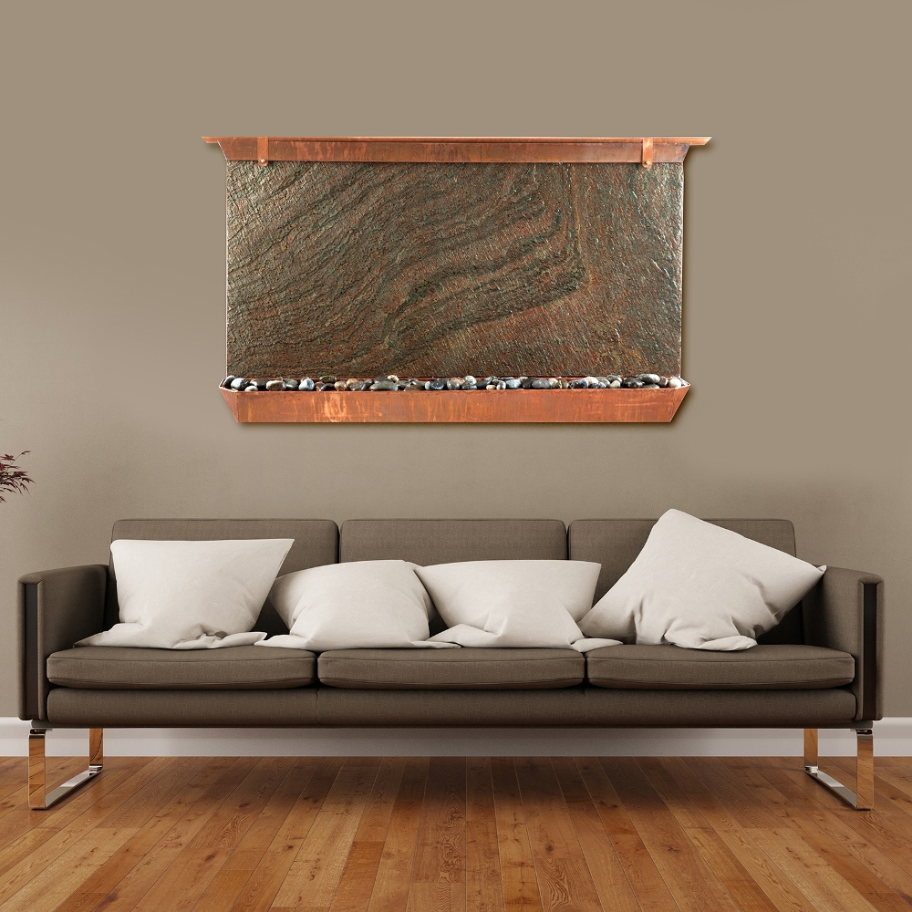 Sunnydaze Victoria Falls Lightweight Slate Wall Fountain Tall Image 178