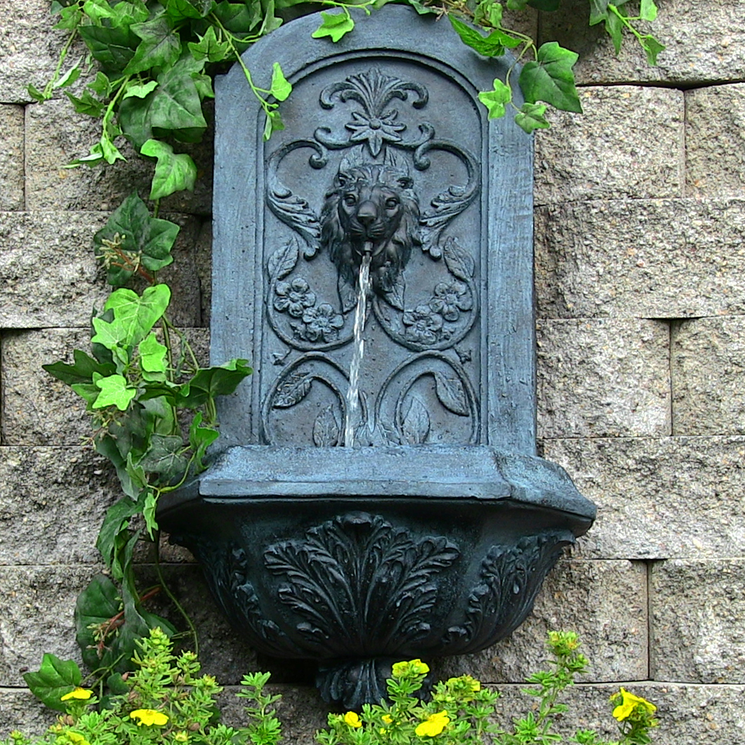 Ative Lion Outdoor Wall Fountain Lead  Picture 626