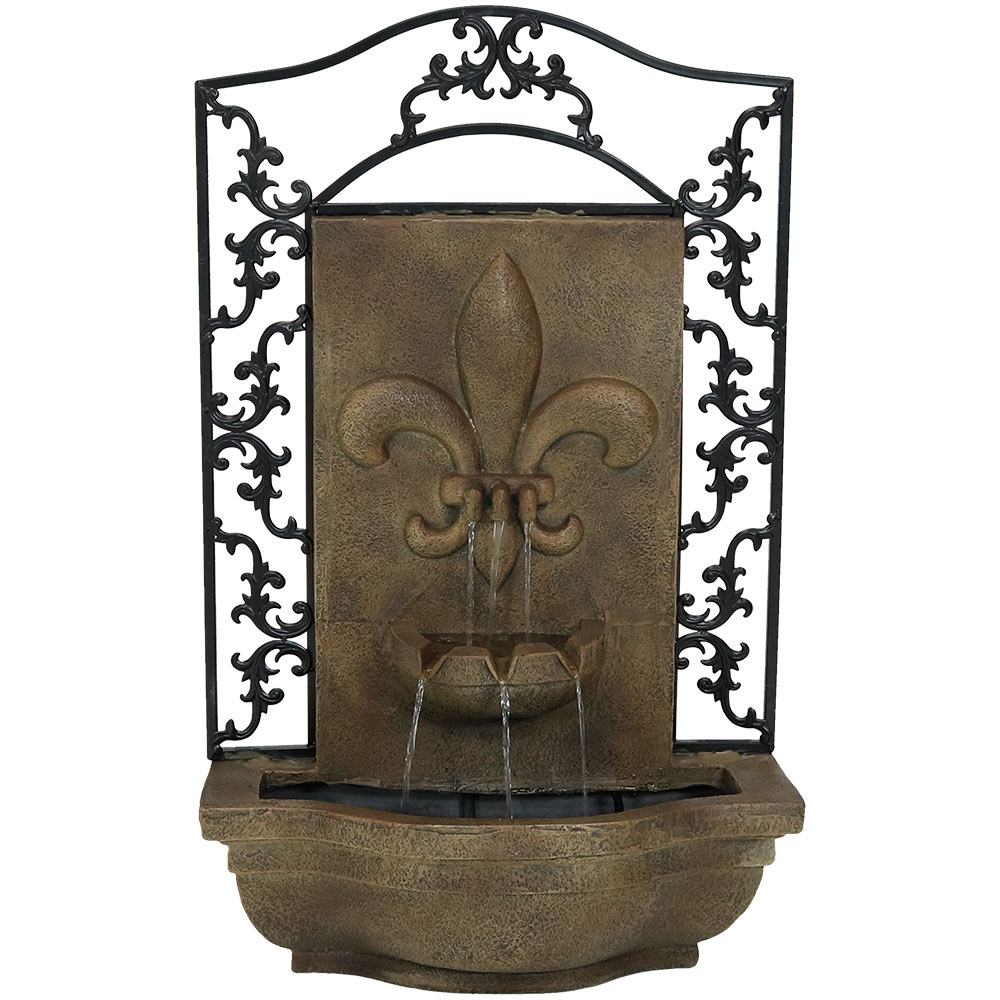 Wall Water Fountain Submersible Pump Florentine Stone Photo