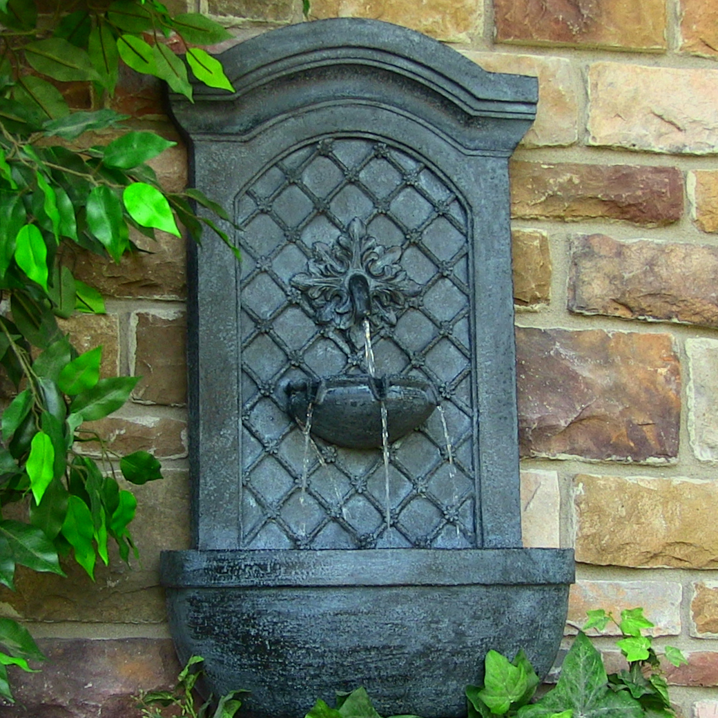 Sunnydaze Rosette Leaf Outdoor Wall Fountain Lead  Picture 441