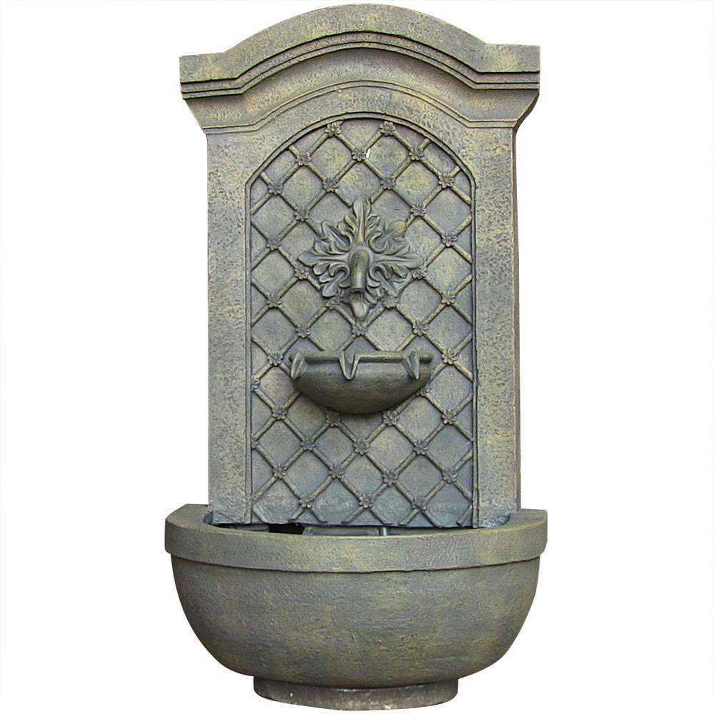 Solar Wall Mounted Water Fountain Solar Limestone Photo