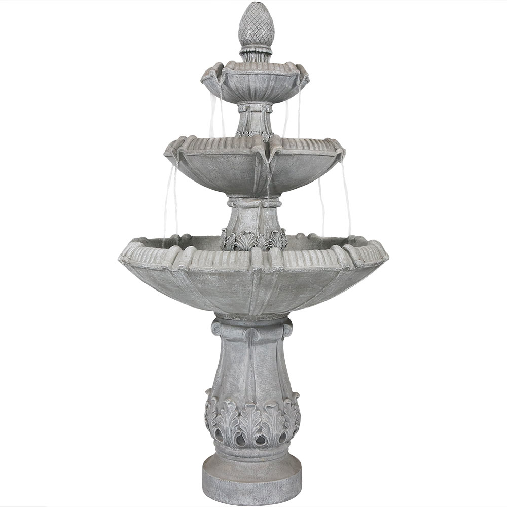 Gothic Finial Garden Water Fountain Tall Photo