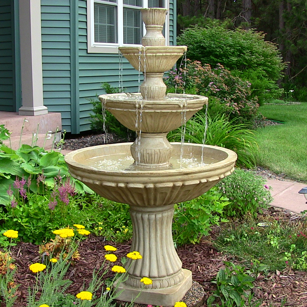 Sunnydaze Classic Tier Designer Water Fountain Tall Picture 116