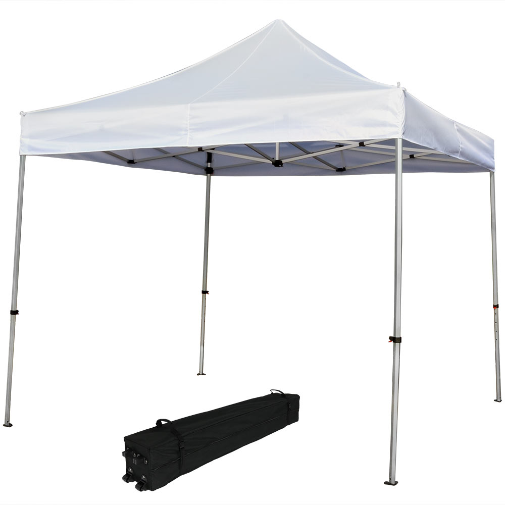 Straight Leg Canopy Event Shelter White Rolling Bag Photo