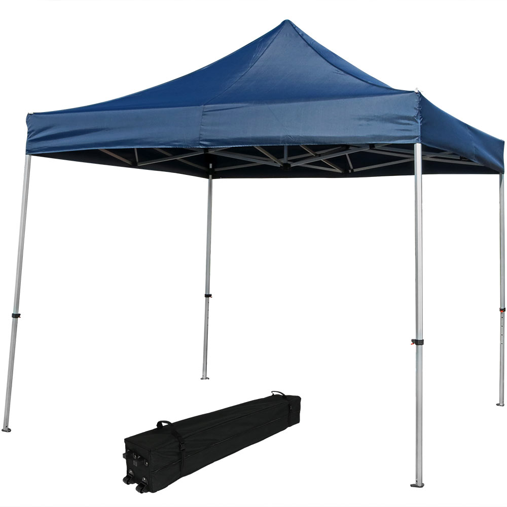 Straight Leg Canopy Event Shelter Blue Rolling Bag Photo